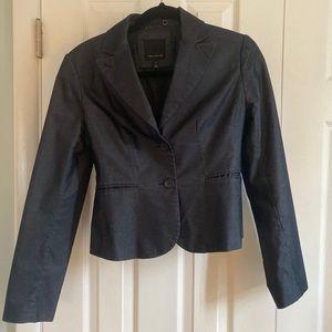 The Limited Dark Denim Blazer Jacket